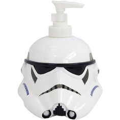 Star Wars Classic Soap Dispenser ($18) ❤ liked on Polyvore featuring home, bed & bath, bath, bath accessories and resin bath accessories