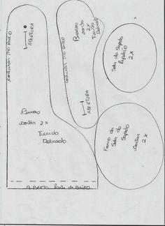 Coisinhas de Pano: Boneco Russo- Meu Boneco Frederico Molde e Passo á Passo