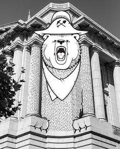 Jeremy Fish - City Hall Residency week 14. I'm feeling kinda Grizzly today, like the symbol for our great state, as I head in to these last 6 drawings.