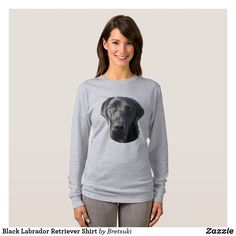 Shop Black Labrador Retriever Shirt created by Bretsuki. Black Labrador Retriever, Hunting Dogs, White Elephant Gifts, Wardrobe Staples, Fitness Models, Female, Casual, Shirt, How To Wear