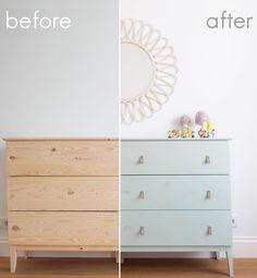 La imagen puede contener: interior Ikea Furniture Hacks, Upcycled Furniture, Home Decor Furniture, Furniture Makeover, Ikea Hacks, Ikea Dresser Hack, Acrylic Furniture, Furniture Restoration, Diy Storage