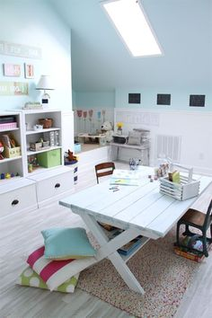 Nice craft room for kids