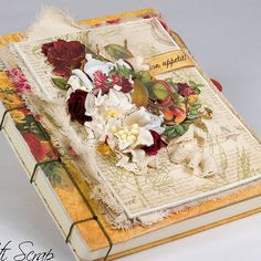 """Bon Appetit"" Libro de CocinaCook Book #Scrapberry's #DesignTeam"