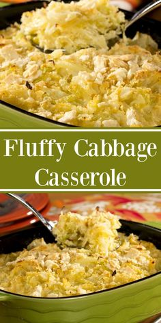 Our Fluffy Cabbage Casserole makes the perfect good luck-side dish to ring in the New Year! Healthy Casserole Recipes, Cabbage Casserole, Vegetable Casserole, Casserole Dishes, Vegetable Recipes, Vegetarian Recipes, Davita Recipes, Ketogenic Recipes, Recipies