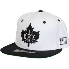 K1X Snapback Cap Leaf Crest weiß/schwarz ★★★★★