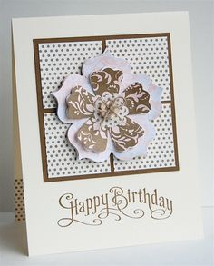 Catherine Pooler: Creativity Grows Here – Clean and Simple -using patterned paper –9/12/12.  (SU: Perfectly Penned stamps; Floral Frames framelits; Blossom punch).  (Pin#1: Clean & Simple.  Pin+: Patterns:...).