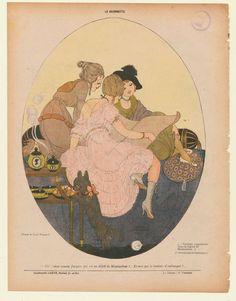 caricature from La Baionette 1916 Gerda Wegener
