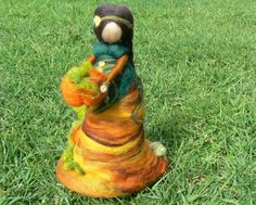 Mother Earth/Gaia/Harvest Festival/ Needle by CloudBerryCrafts,:
