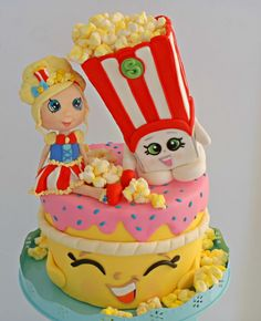 Shopkins, Cake Toppers, Birthday Cake, Facebook, Sweet, Table, Desserts, Food, Candy