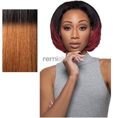 Quick Weave Latrisha - Color DR30 - Synthetic (Curling Iron Safe) Half Wig