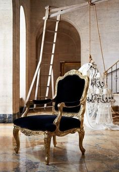 Might recover the cheap antique chairs I found in black velvet...