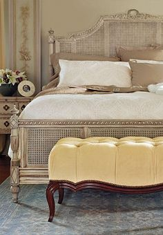 Beauvier French Cane Bed.