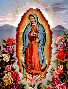 Virgen De Guadalupe Mexican Arts   Dia de Nossa Senhora de Guadalupe - Mensagens, Imagens e Frases