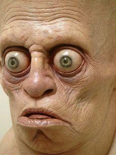 Jordu Schell, American sculptor and concept artist Horror Comics, Horror Art, Creepy, Scary, Human Oddities, Interesting Faces, Creature Design, Funny Faces, Dark Art