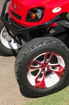 Custom color coordinate your golf cart body, wheels, seats and roof for truly one of a kind look. #customcolorcoordinatedgolfcart #customgolfcartaccessories Custom Golf Cart Bodies, Custom Golf Carts, Golf Cart Wheels, Custom Body Kits, Golf Cart Accessories, Fender Flares, Co Ord, Coordinating Colors, Products