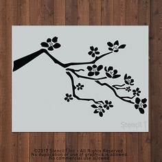 Cherry Blossom Stencil – Large | Stencil1