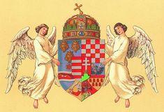 Empire of Austria-Hungary, medium coat of arms of the Hungarian Countries, Hugo Gerhard Ströhl. Hungary History, Kingdom Of Naples, Holy Roman Empire, Hungarian Embroidery, Austro Hungarian, Kaiser, Historical Maps, Crests, Hungary