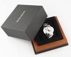 Mens Baume & Mercier Stainless Steel Automatic Chronograph Watch w/ Original Box #BaumeMercier #Sport