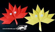 Autumn paper leaves | krokotak