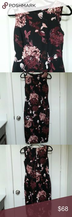 Final Price! Ivanka Trump Floral Print Dress *Price is firm* A beautiful floral print dress in a slimming silhouette. Concealed back zipper closure. Brand new with tags. 95% Polyester 5% Spandex Ivanka Trump Dresses