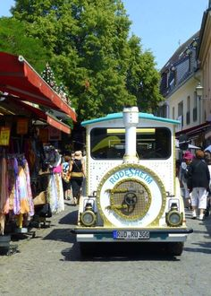 Families love riding this cute mini train in Rudesheim, Germany