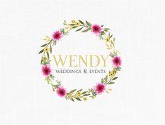 Premade Floral Wedding Logo Design Florist Logo Photography Logo Boutique Logo design