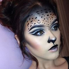 This Expert halloween makeup gallery 30 image is part from Awesome Halloween Makeup Gallery from the Expert gallery and article, click read it bellow to see high resolutions quality image and another awesome image ideas. Cute Halloween Makeup, Halloween Looks, Leopard Halloween, Halloween Hairstyle, Easy Halloween, Leopard Makeup, Animal Makeup, Black Cat Makeup, Fox Makeup