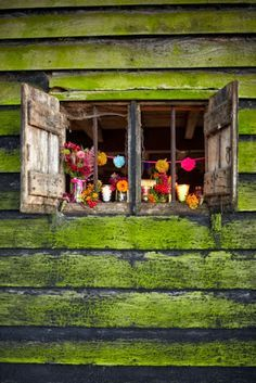 adore that shade of green Selina Lake: Autumn Hideaway Old Windows, Windows And Doors, Rustic Windows, Ventana Windows, Deco Nature, Deco Boheme, Through The Window, Window View, Window Dressings