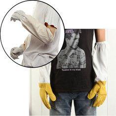 Beekeepers Protective Goatskin Vented Long Sleeves Beekeeping Gloves