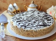 Tort cu crema de ciocolata umeda 0 Vanilla Cake, Desserts, Tailgate Desserts, Deserts, Postres, Dessert, Plated Desserts