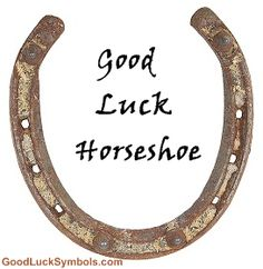 Good Luck Horseshoe - Horseshoe Symbolism and Superstition Lucky Symbols, Good Luck Symbols, Good Luck Horseshoe, Farm Crafts, Good Luck To You, Baby Doll Clothes, Horseshoes, Brain, Money