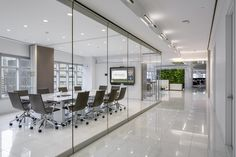 """Mondopad Installation in Meadows Office Interiors - """"After experiencing InFocus technology, the Meadows team selected Mondopad, which is both a video conferencing device as well as interactive whiteboard, for their conference and meeting rooms, and JTouch for open space areas where only interactive whiteboards are needed."""" -Tech Decisions"""