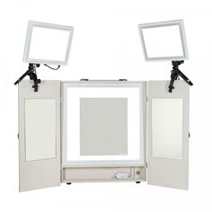 My dream is to have a Mirror that I can see myself in nicely when I am getting ready for work or a gig, but the two clip on lights are great for taking on jobs. this is the dream package and way out of anyone's price range.