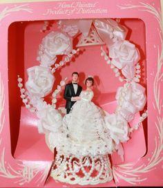 Vintage Wedding Cake Topper Pfeil Holing 1950'S | eBay