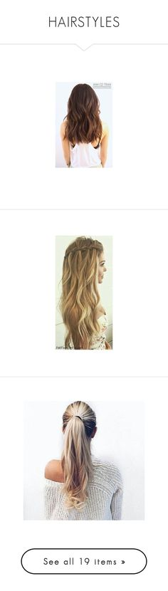 """""""HAIRSTYLES"""" by claaudinlov on Polyvore featuring hair y accessories"""