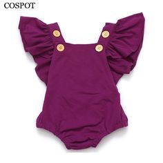 Cheap baby girl summer jumpsuit, Buy Quality infant baby girl romper directly from China romper ruffled Suppliers: COSPOT Baby Girls Romper Newborn Infant Clothing Girls Summer Spring Cotton Ruffle Sleeve Romper Toddler Jumpsuit Fashion Kids, Baby Girl Fashion, Toddler Fashion, Style Fashion, Woman Fashion, Fashion Clothes, Trendy Fashion, Latest Fashion, Newborn Girl Outfits
