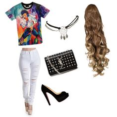 #1 by fufini on Polyvore featuring polyvore fashion style Christian Louboutin Yves Saint Laurent Wet Seal