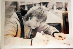 Kurt Cobain, creando.