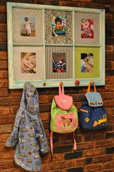 Take a window pane and make a photo frame and coat rack. Neat!  We have window panes! @Holley Burns, we need to find an old Junk store that sells old window panes, I have seen a few cute ideas on here.