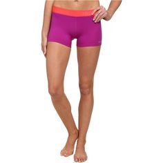 Marmot Motion Short Women's Shorts, Pink ($25) ❤ liked on Polyvore featuring activewear, activewear shorts, pink and logo sportswear