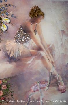 A beautiful Ballerina by Karen Fraser from Piecemakers in California. Click on the image to enlarge