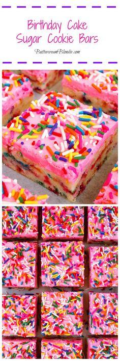 Birthday Cake Sugar Cookie Bars