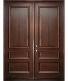 Front mahogany doors.