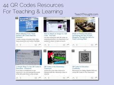 44 QR Codes Resources For Teaching & Learning  http://www.teachthought.com/technology/44-qr-codes-resources-for-teaching-and-learning/