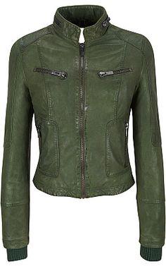 Black Rivet Lamb Stand-Collar Bomber Jacket - Wilsons Leather
