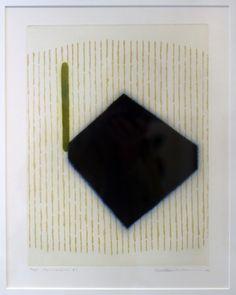 "Seiko Tachibana  Formation #7  Framed intaglio  26""x 20"""