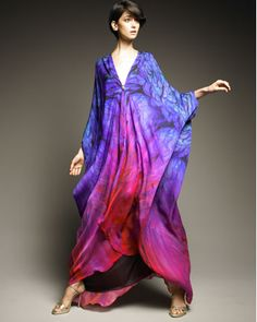 Photo Source: Neiman Marcus.com for Robert Cavalli Cutout-Back Caftan