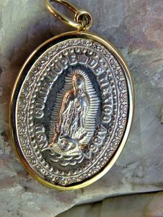 13mm x 24mm Jewel Tie 925 Sterling Silver Antiqued-Style Our Lady of Perpetual Help Medal
