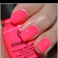 This is a really awesome super bright pink. China Glaze- Pool party