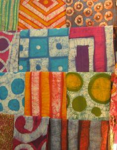 Tela pintada a mano en 100% algodón utilizando la técnica del batik. Diseños exclusivos!!